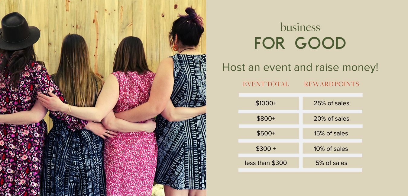 Business for Good, host an events and raise money