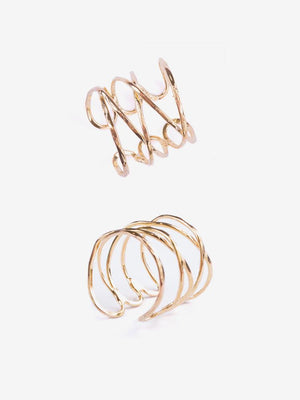 Gold twist ring that you can wear on any finger handcrafted at a fair trade artisan cooperative in India.