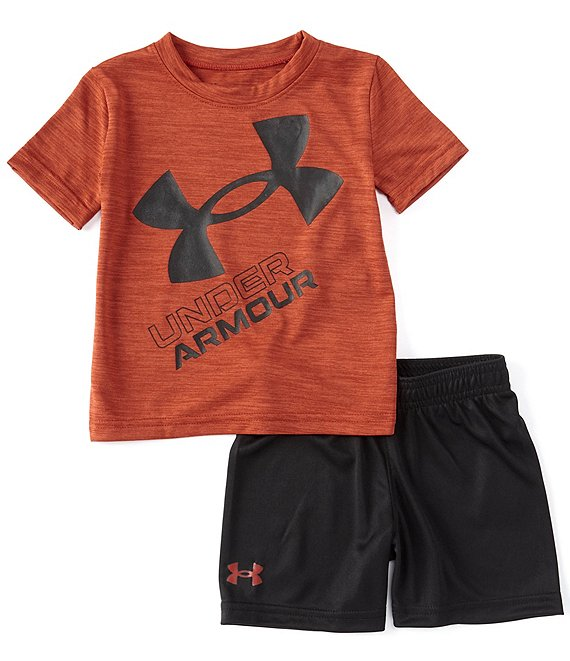 UA Twist Slanted Logo Tee & Short Set