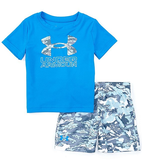 UA ABC Camo Big Logo Tee & Short Set