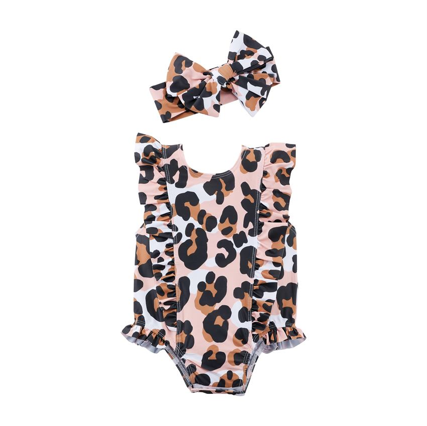 Mud Pie Leopard Swimsuit w/Hairbow