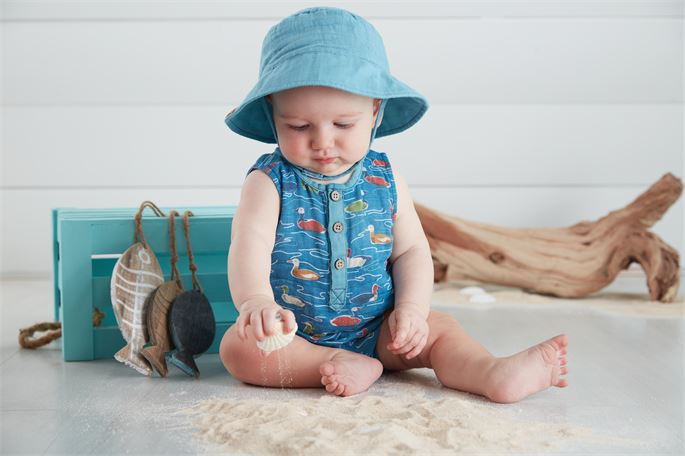 Mud Pie Mallard Romper Set