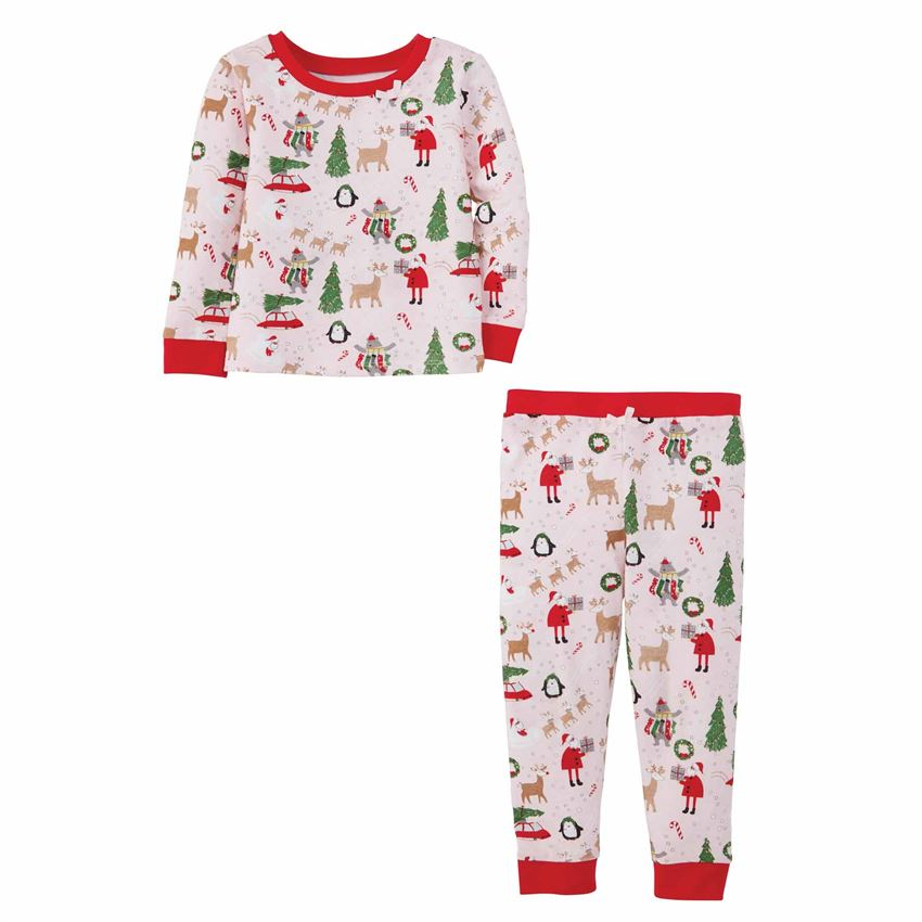 Mud Pie Girl Christmas PJs