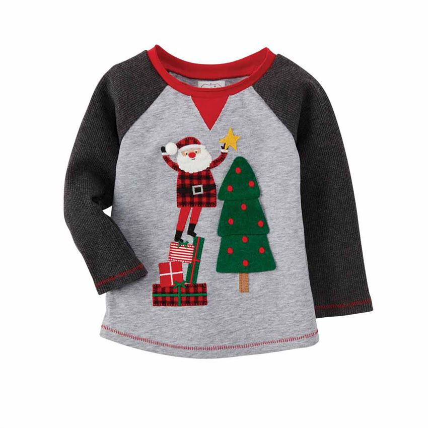 Mud Pie Santa Tree Tee