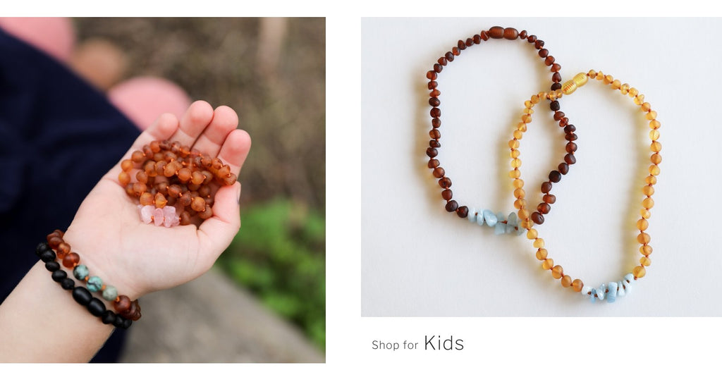 CanyonLeaf amber teething necklace