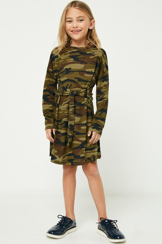 Camo Dress Long Sleeve