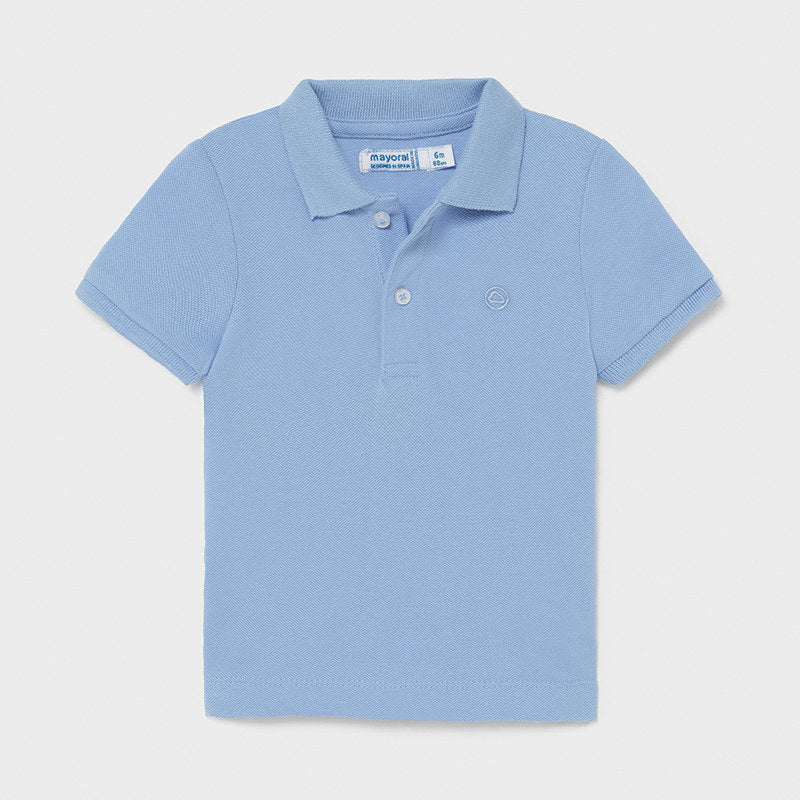 Mayoral Cotton Polo Lt Blue