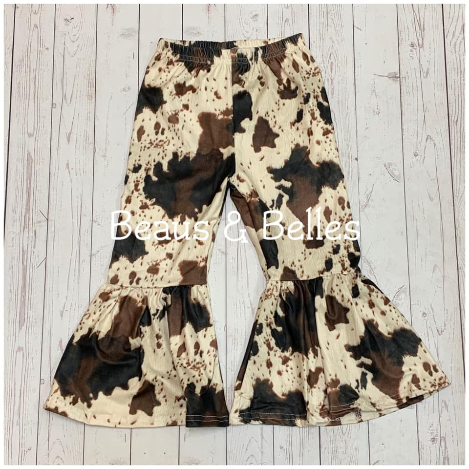 Cow Print Bell Pants