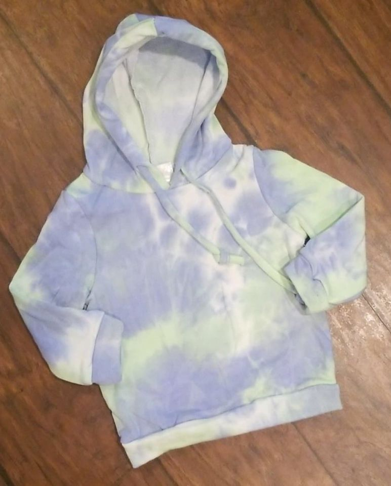 Blue and Green tiedye hoodie
