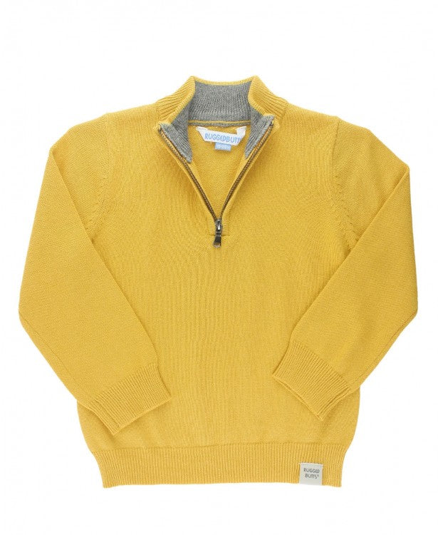 RB Golden Quarter-Zip Sweater