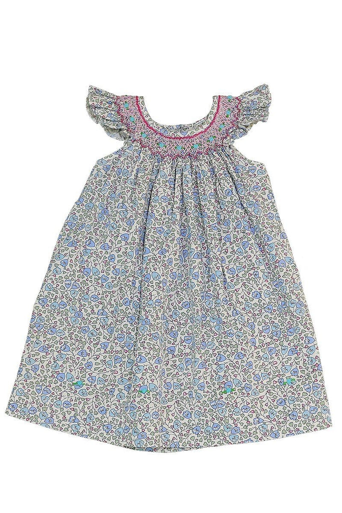 Angel Sleeve Smocked Dress
