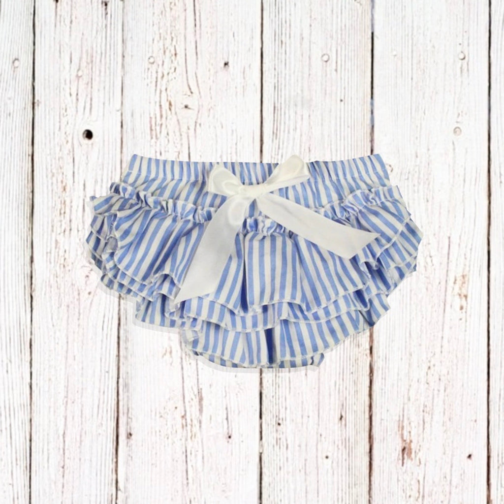 Blue/White Ruffle Bloomers