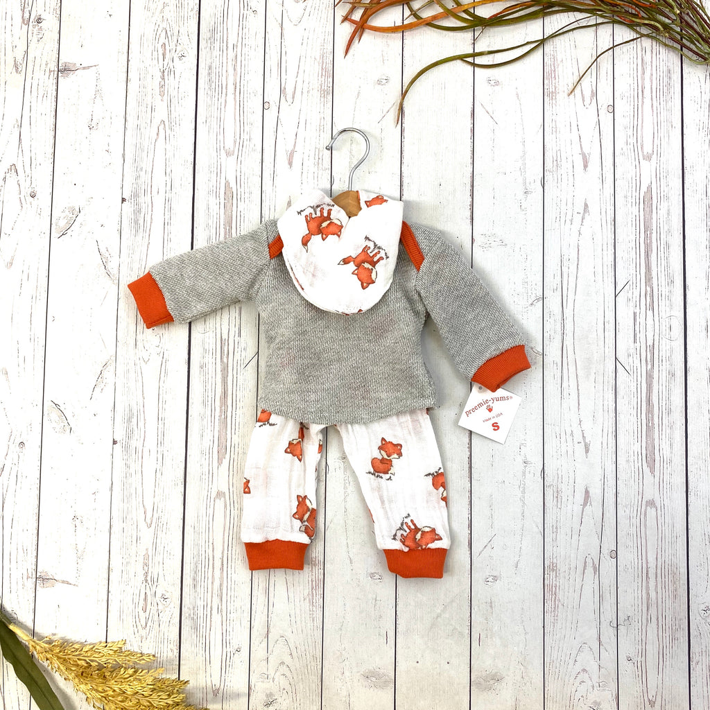 Preemie-Yums Muslin Fox Pups Set