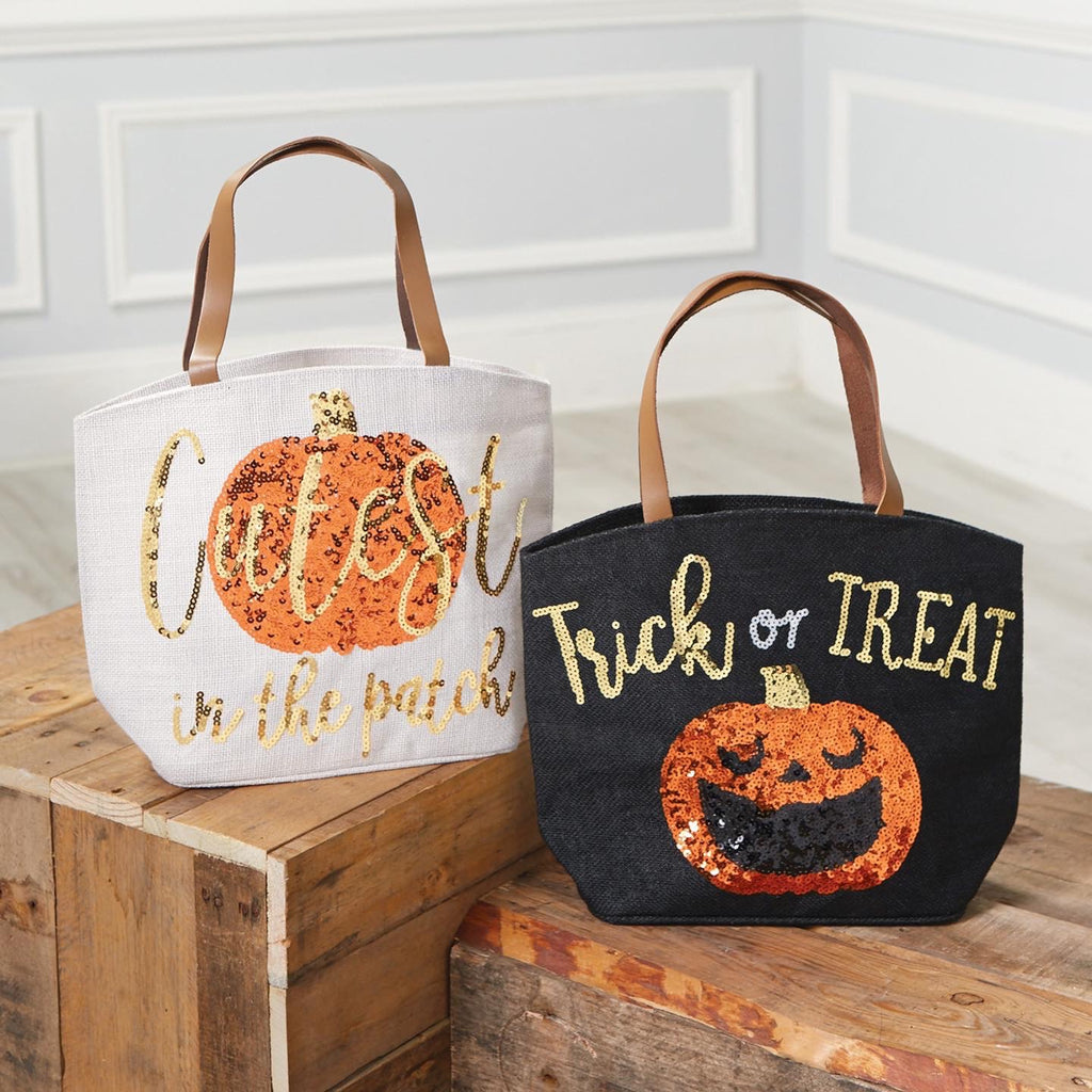 Mud Pie Halloween Jute Tote