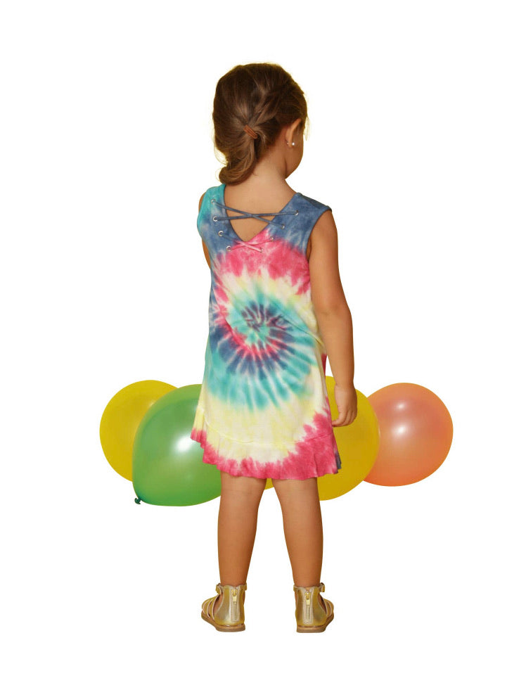 Tie Dye Assymetrical Dress