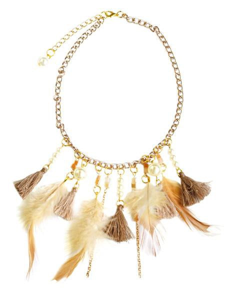 Bailey's Blossoms Feather Bohemian Necklace