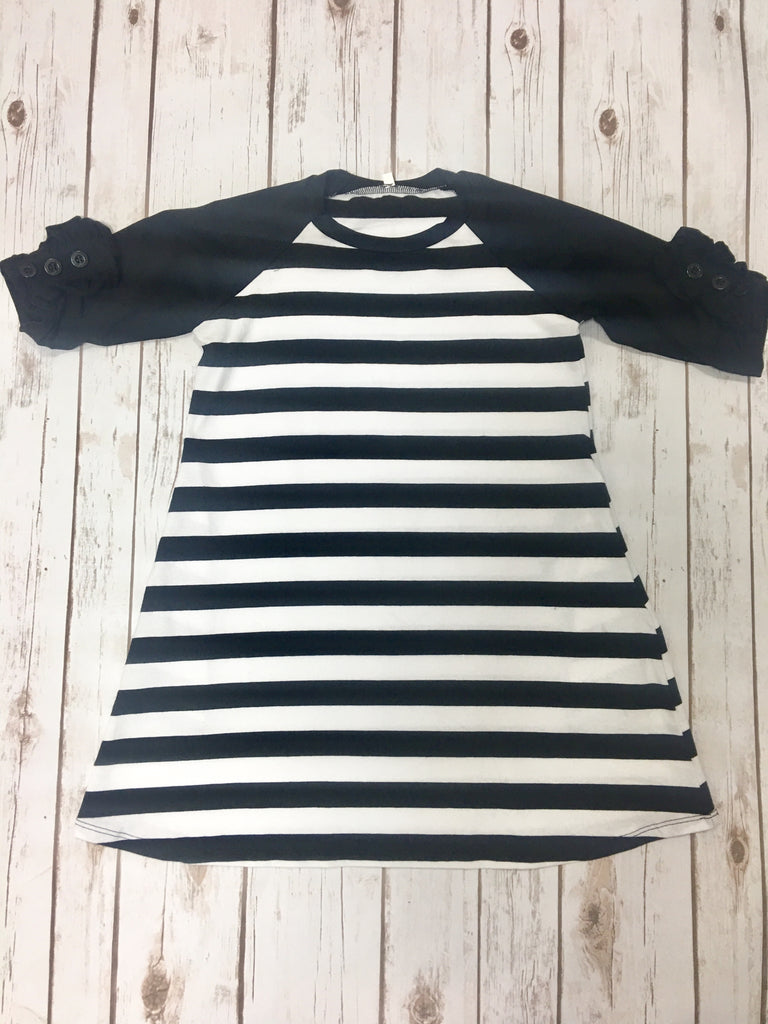 B&B Black/White Striped Dress