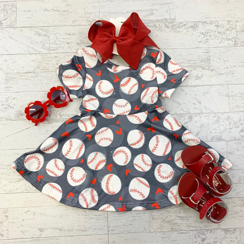 Baseball Twirl Dress