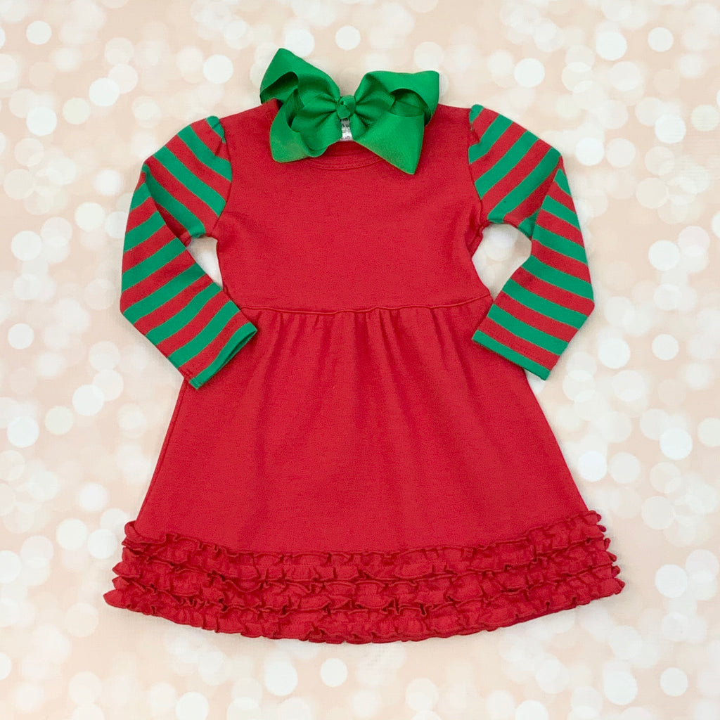 Red and Green Christmas Dress