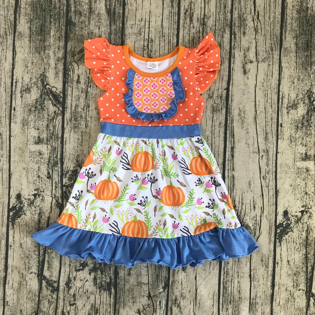 Two Little Birds Pumpkin Patch Dress