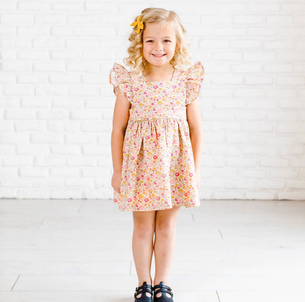 Wren & James Sunset Floral Pinafore