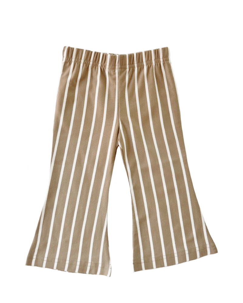 Blakely Boho Bell Bottoms Mocha & White