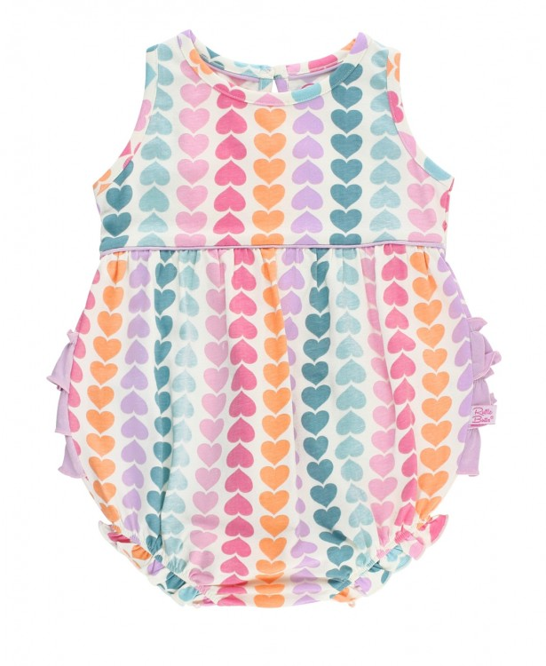 RB Rainbow Hearts Bubble Romper