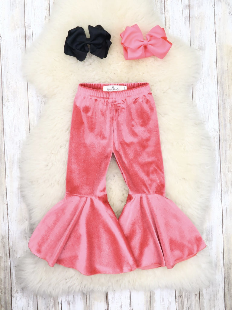Bubble Gum Pink Velour Bells