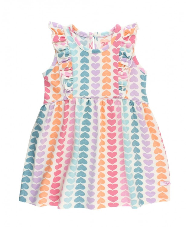 RB Rainbow Hearts Waterfall Dress