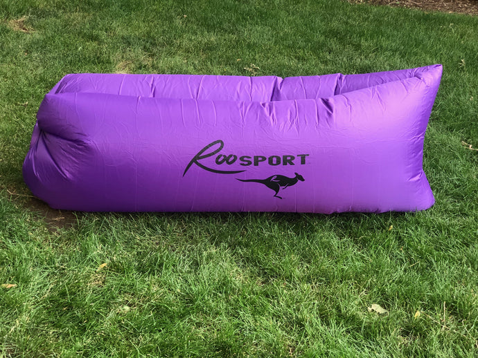 Self Inflating Lounger.  Comes in small backpack.  Great for Concerts, Ballgames, The Beach, Backyard, and more...