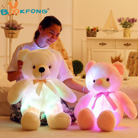 Pillow Stuffed Plush Teddy Bear  with Cool Led Lights 50CM Length
