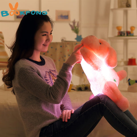 Pillow Stuffed Plush Dog with Led Lights  50CM Length