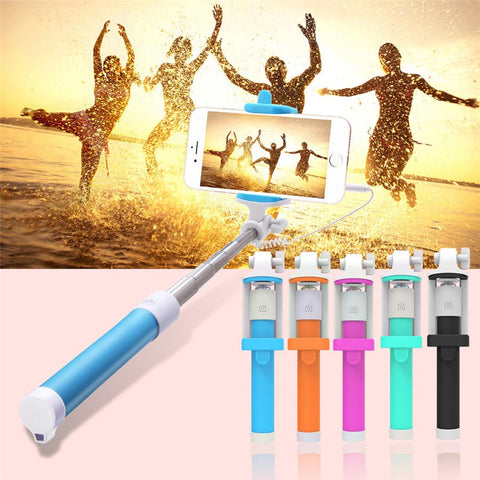 NEW ! Universal Extendable Mini Portable Selfie Stick  Candy Colors