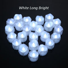 Candles  Led Flameless Drop Tear White Home Decor 12 pieces.