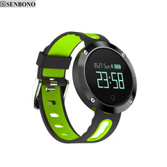 Bluetooth 4.0 Smart Sport Watch Heart Rate Blood Pressure Fitness Tracker