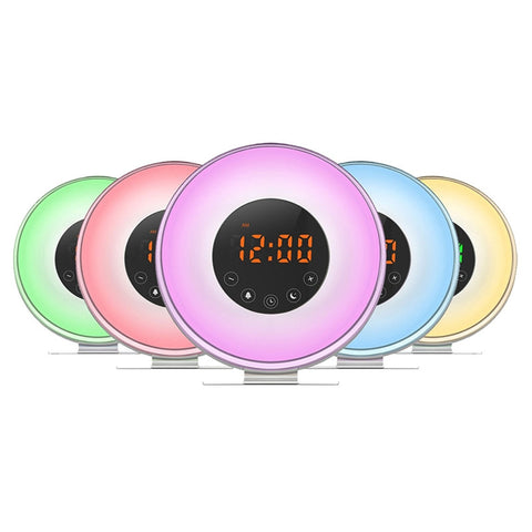 Alarm Clock Natural Light  With USB Charger