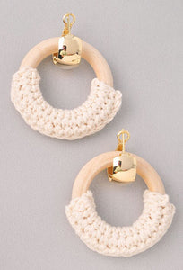 Crochet Wood Earrings