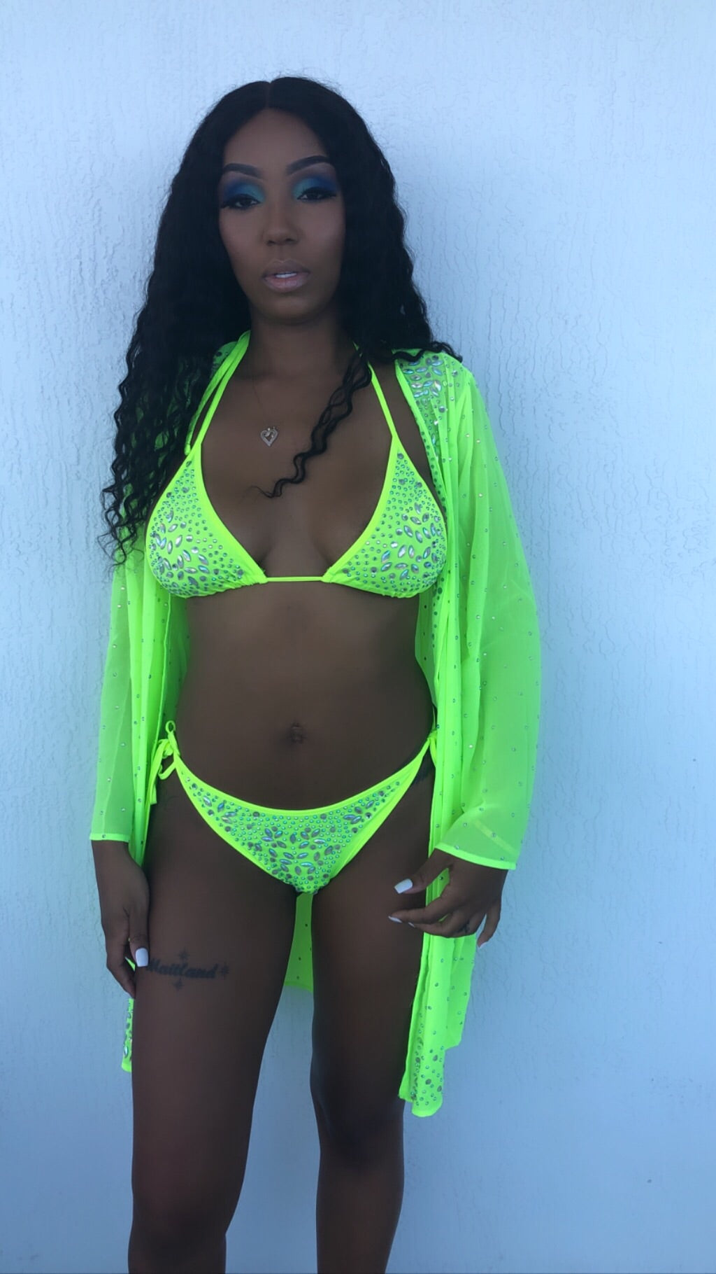 Ice Me Out 3 Piece Swimsuit Set