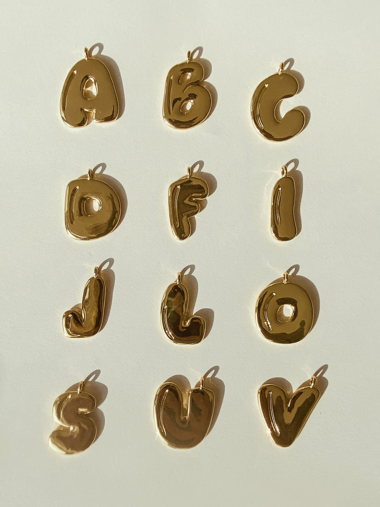 Bubble Letter Necklace