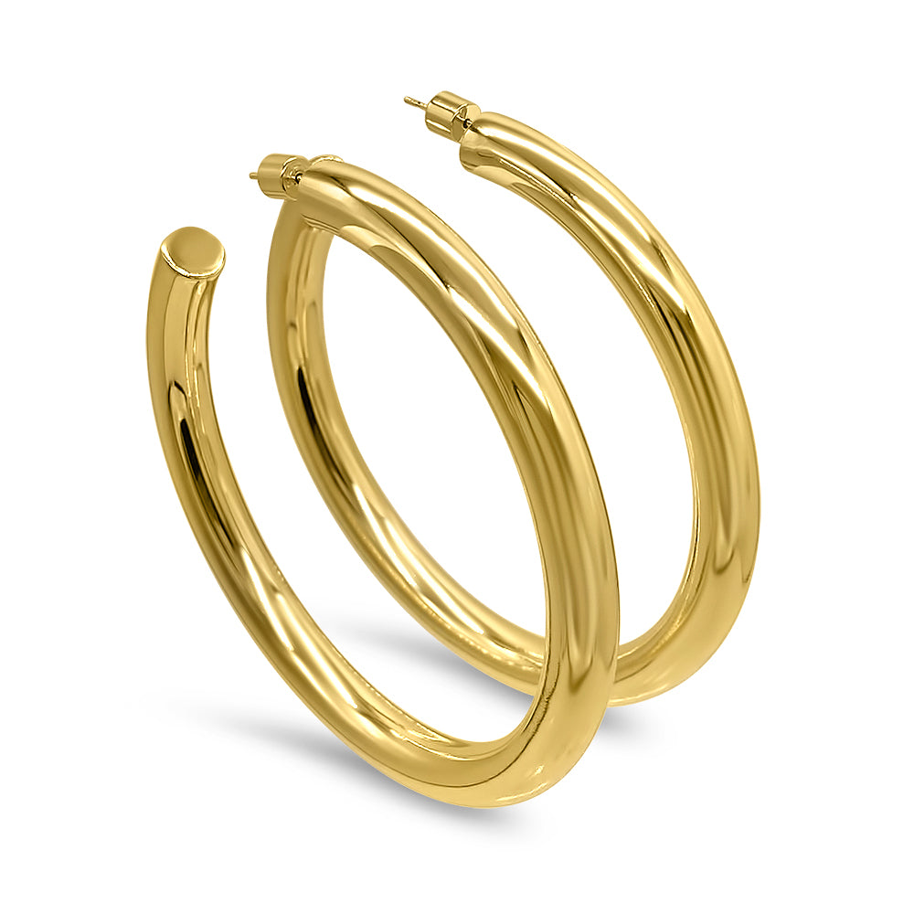 Load image into Gallery viewer, Gold Hoop Earrings Gift