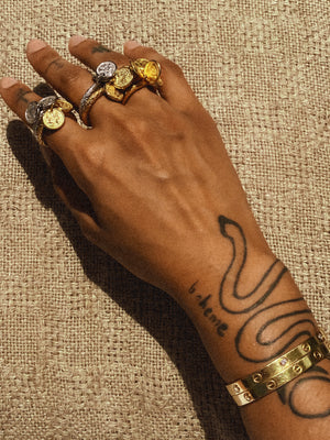 Snake Tattoo Gold Rings
