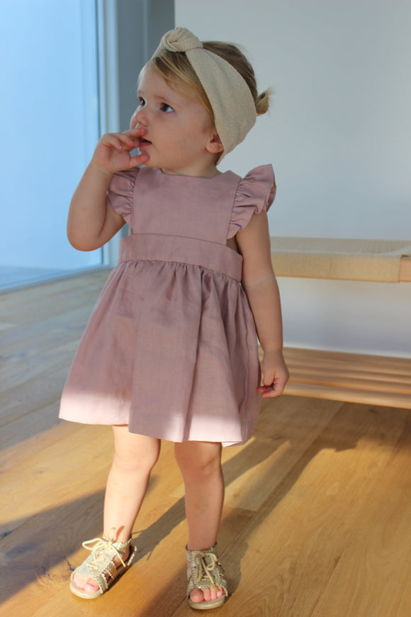 Madeline Linen Pinafore