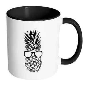 The Pineapple Life Black Accent Coffee Mug 9 by Just Cool Folks Shop Today