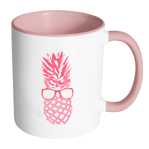 The Pineapple Life Pink Accent Coffee Mug 8 by Just Cool Folks Shop Today