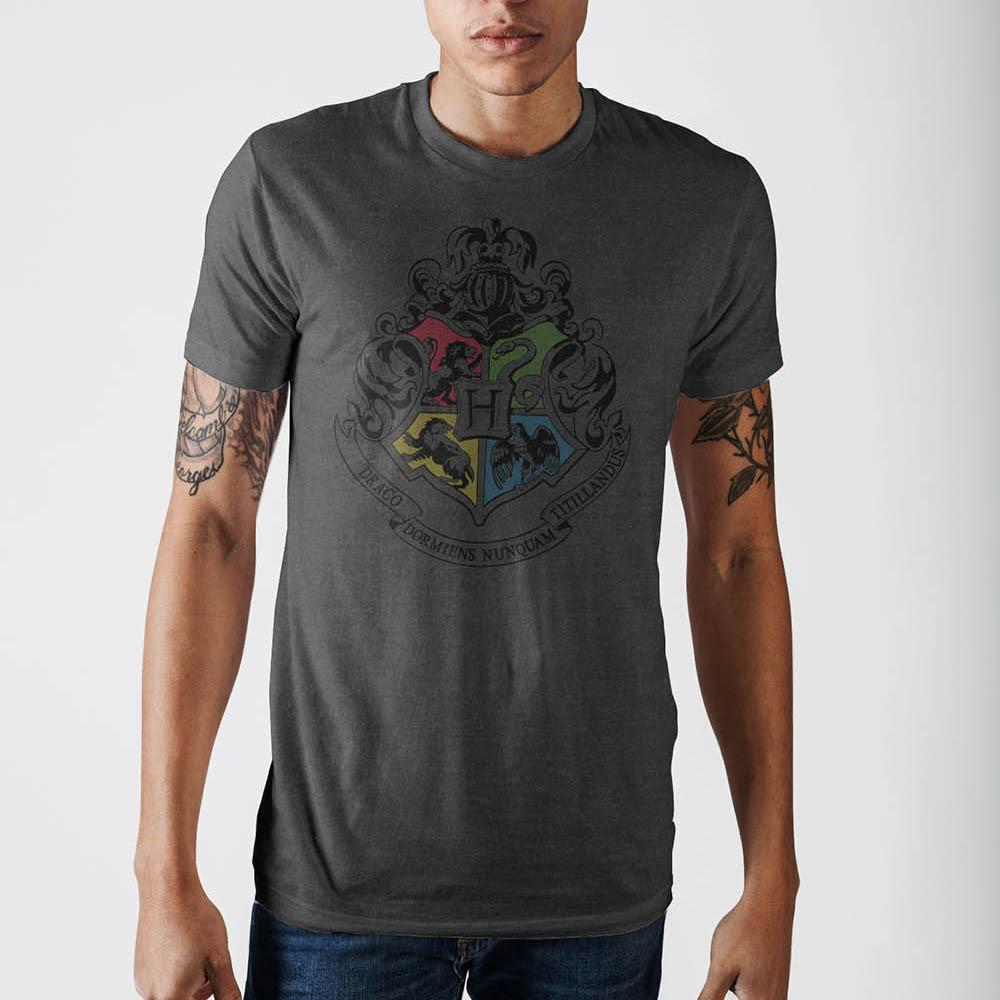 Harry Potter Crest Charcoal T-Shirt