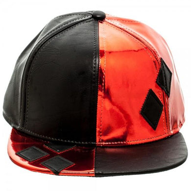 Batman Harley Quinn PU Suit Up Snapback with Appliquƒ?? Diamonds