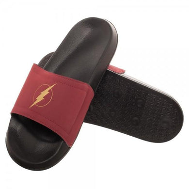 Flash Logo Unisex Black Slides