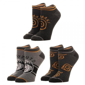 Naruto Youth Ankle Socks 3 Pack
