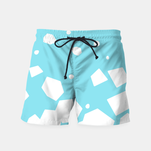 Crushing Cubes on Blue Swim Shorts at Just Cool Folks Shop Today #justcoolfolks justcoolfolks.com