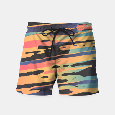 Really Cool and Trippy Dawn Time Swim Shorts at Just Cool Folks Shop Today #justcoolfolks